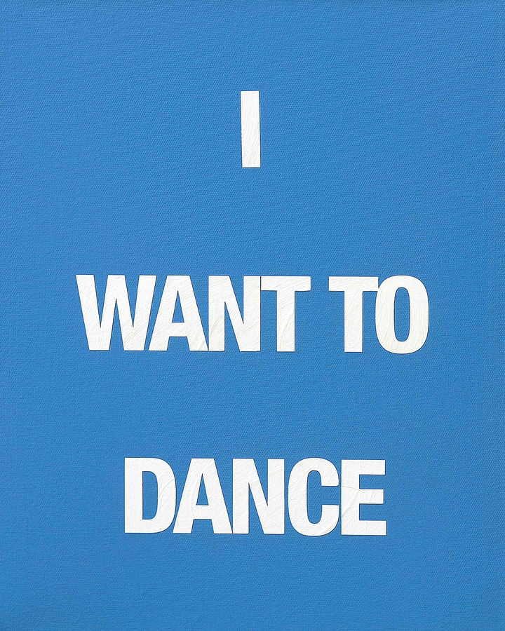 I WANT TO DANCE, 2009 Acrylic on canvas 50 x 40 cm