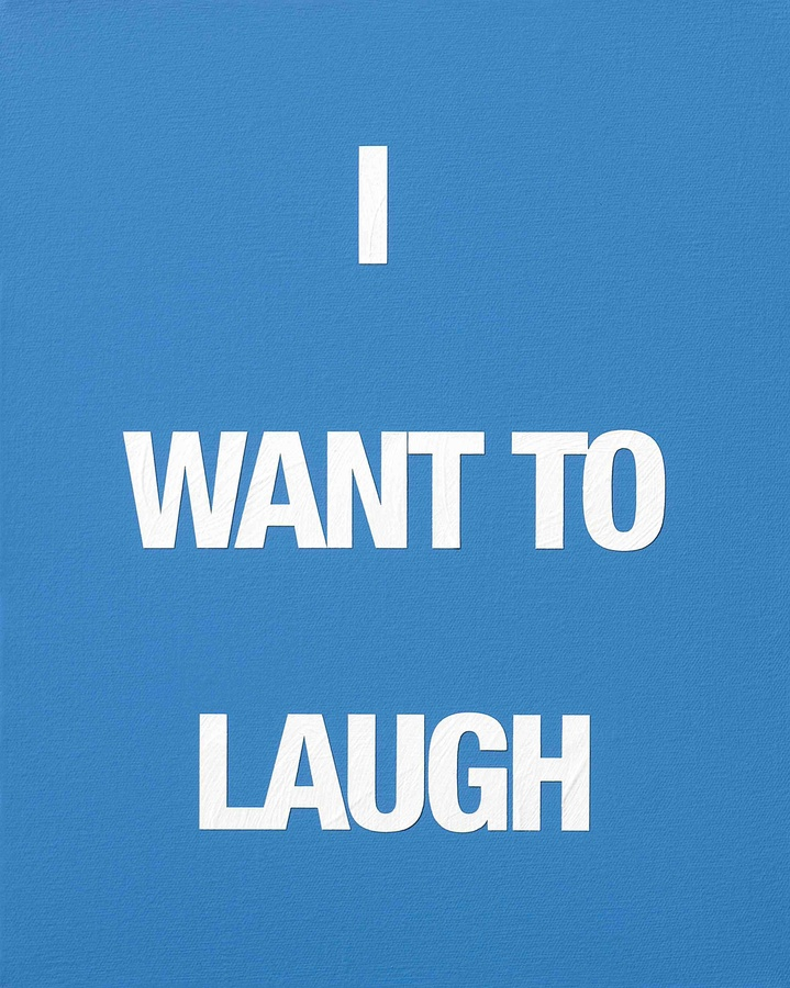I WANT TO LAUGH, 2009 Acrylic on canvas 50 x 40 cm