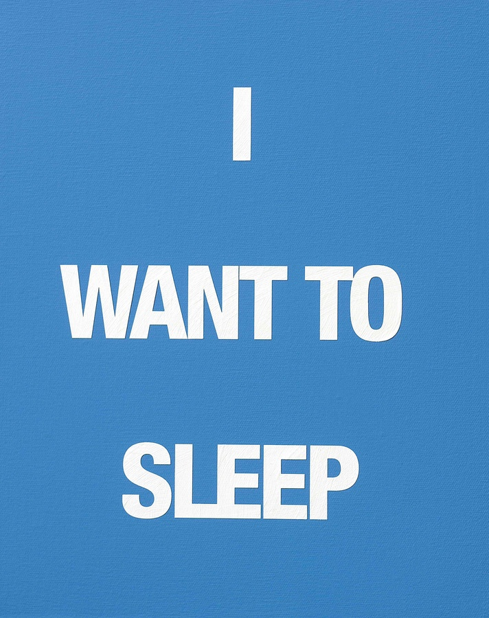 I WANT TO SLEEP, 2009 Acrylic on canvas 50 x 40 cm
