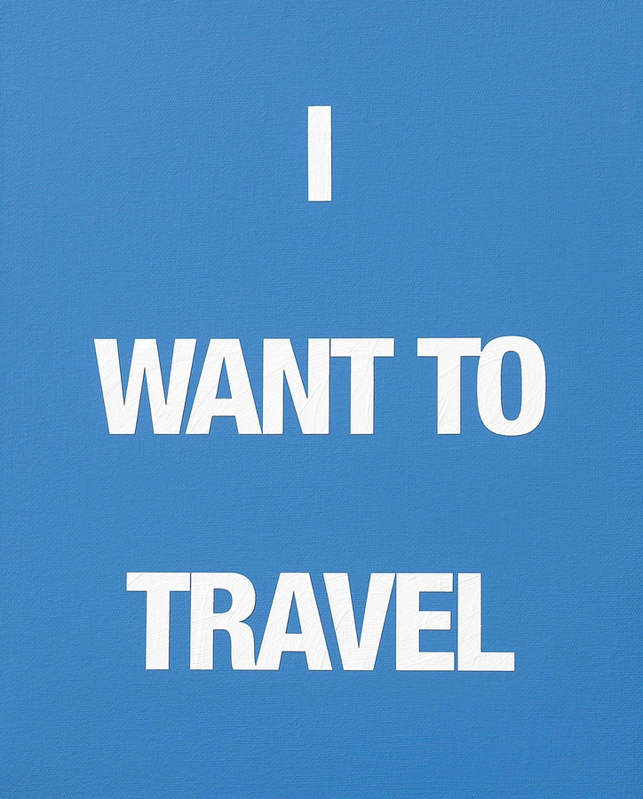 I WANT TO TRAVEL, 2009 Acrylic on canvas 50 x 40 cm
