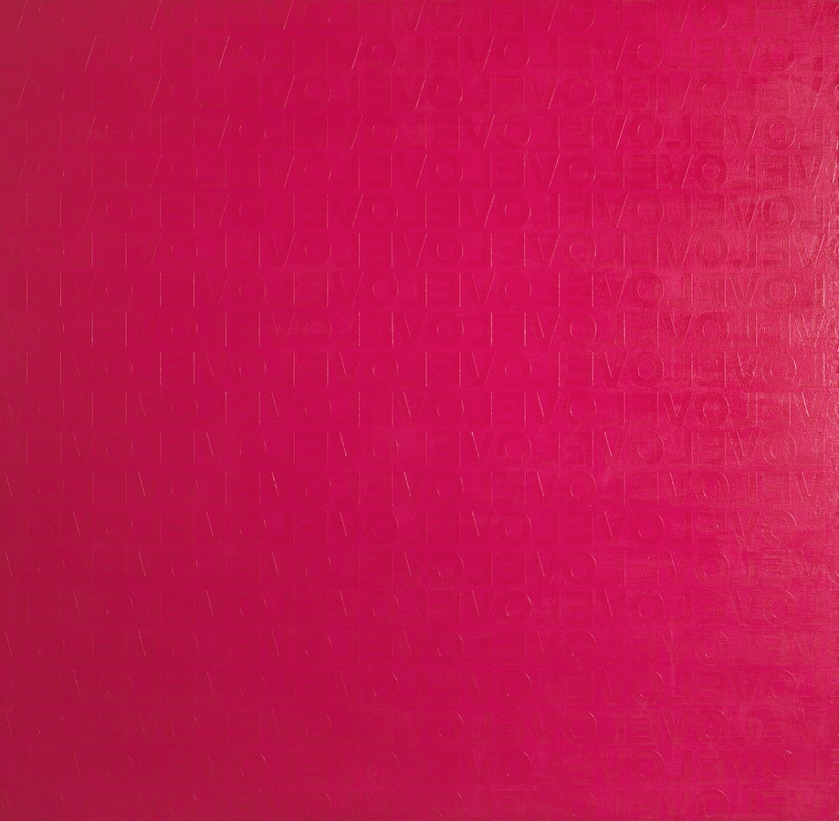 PINK LOVE #1, 2007 Acrylic on canvas 120 x 120 cm