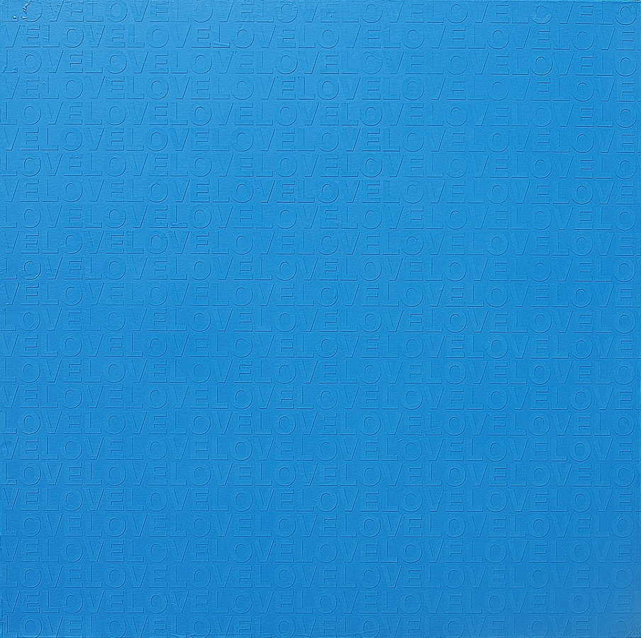 BLUE IN LOVE #1, 2009 Acrylic on canvas 150 x 150cm