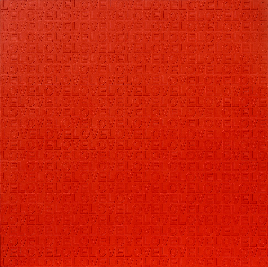 RED IN LOVE #1, 2009 Acrylic on canvas 150 x 150cm