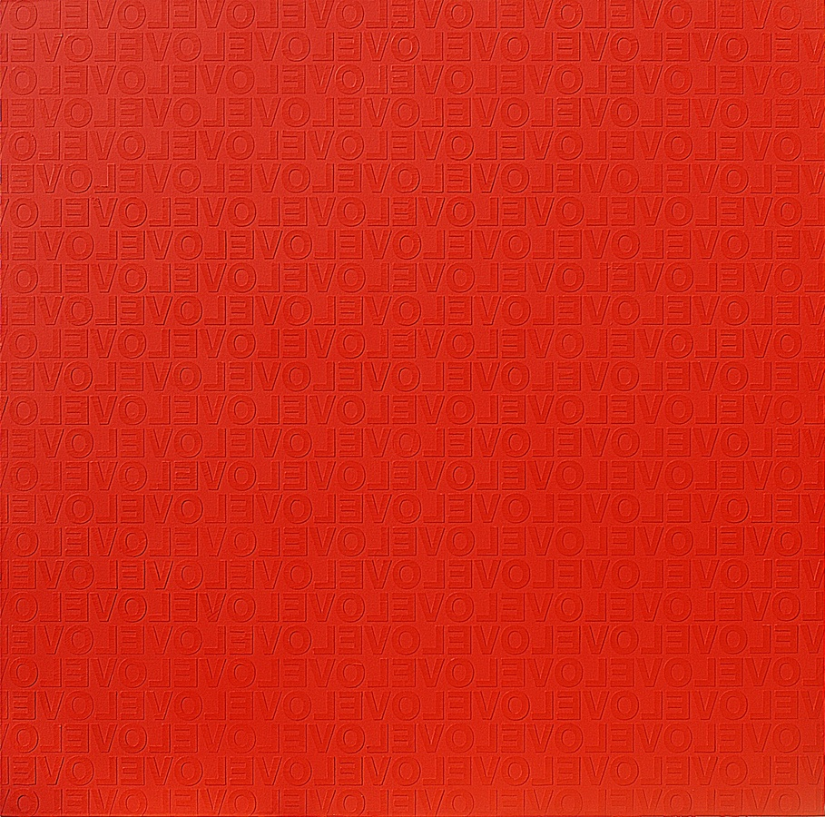 RED IN LOVE #2, 2009 Acrylic on canvas 150 x 150 cm