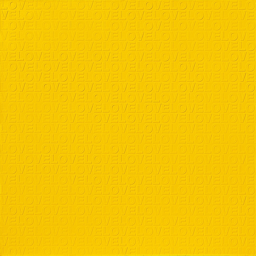 YELLOW IN LOVE #1, 2009 Acrylic on canvas 150 x 150 cm