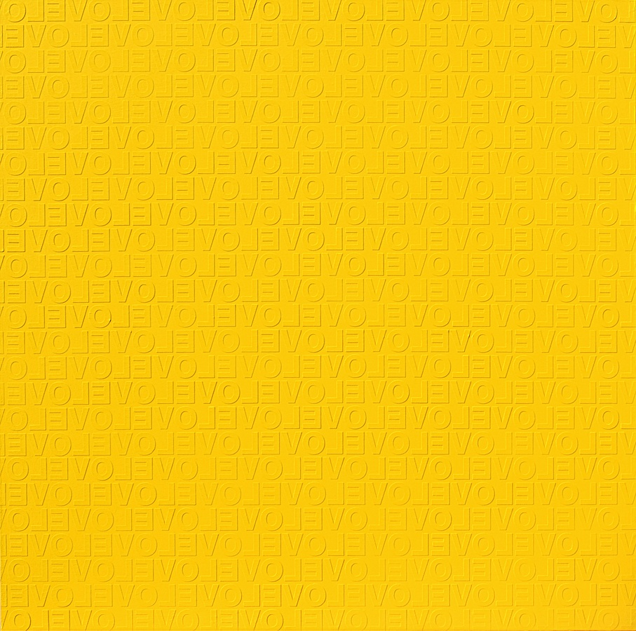 YELLOW IN LOVE #2, 2009 Acrylic on canvas 150 x 150 cm