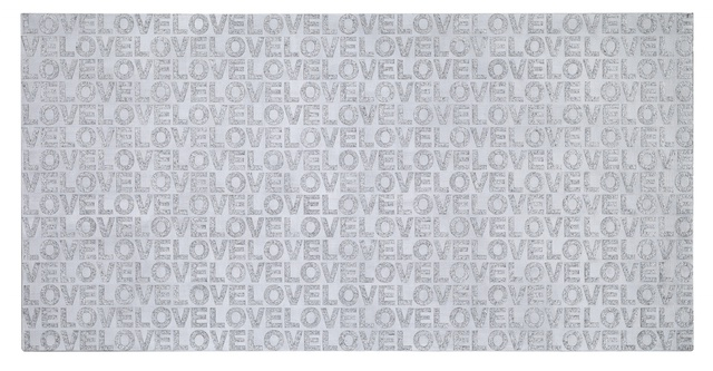 I Love Pearl of Love on The Wild Screen》, Acrylic on canvas, 90x180cm, 2012