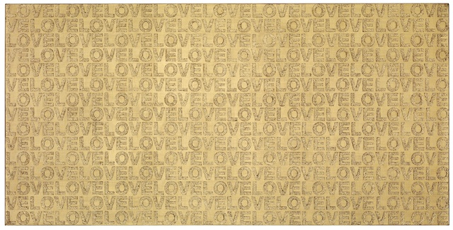 I Love Gold of Love on The Wild Screen》, Acrylic on canvas, 90x180cm, 2012